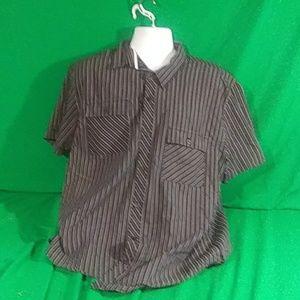 American rag cie mens xxl stripe black shirt
